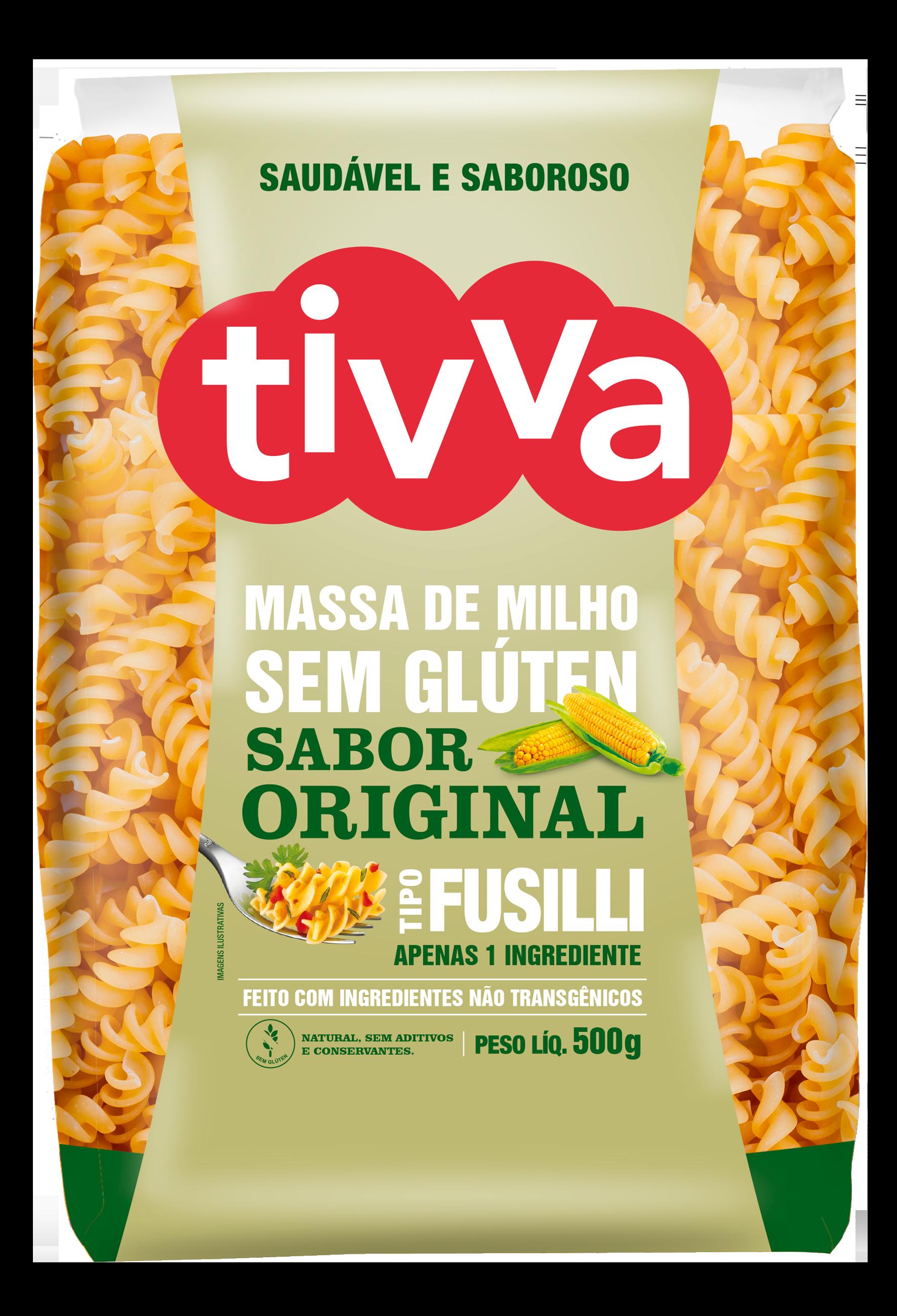 TIVVA_500g_FUSILLI DE MILHO - ORIGINAL_FRENTE